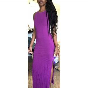 Small Nasty Girl Regal Purple Long Dress